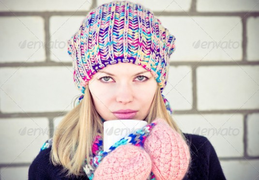 Colorful pair of gloves
