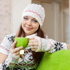 Hat warms with cup of tea