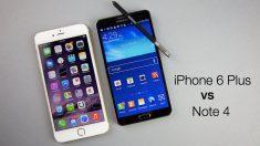 iPhone 6 Plus vs Galaxy Note 4 comparativa a fondo