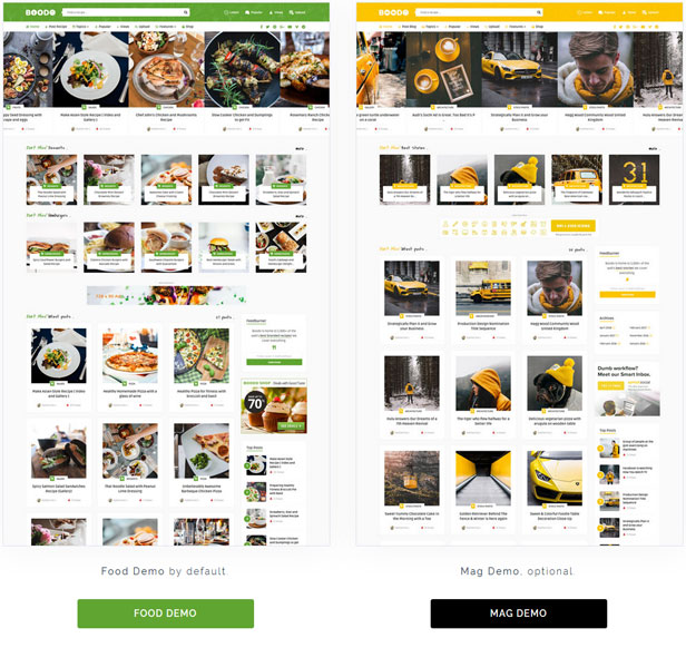 Boodo WP - Food and Magazine Shop WordPress Theme - 1