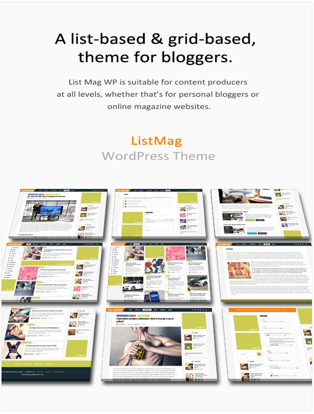 List Mag WP - A Responsive WordPress Blog Theme - 1