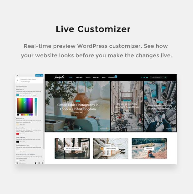 Tumli - A Personal Masonry Style WordPress Theme - 1