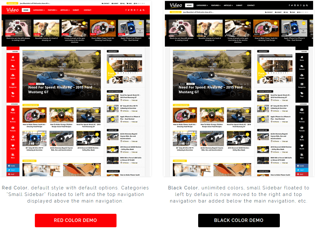 Video News = WordPress Magazine / Newspaper Theme - 1