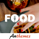Tasty Food theme with Image Optimizer Plugins