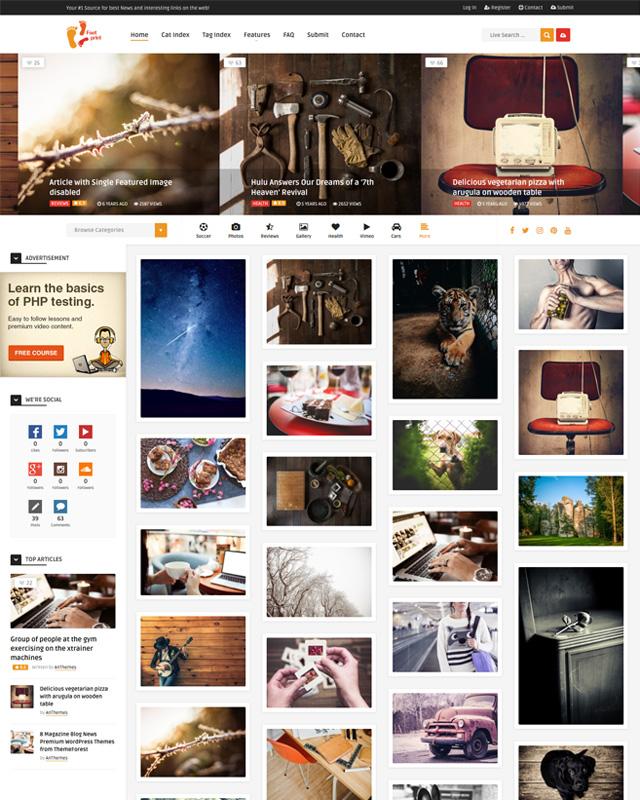 Foot Pinterest Personal Photography WordPress theme