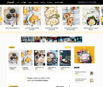 Pcook Food WordPress Theme
