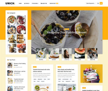 Unich Food WordPress Themes