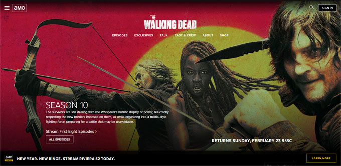 The Walking Dead – AMC blog using WordPress