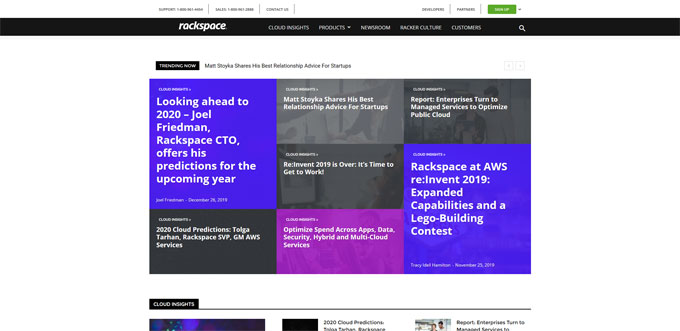 Rackspace blog using wordpress