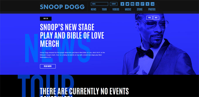 Snoop Dogg Blog built with WordPress