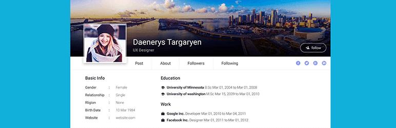 wordpress user profile plugins