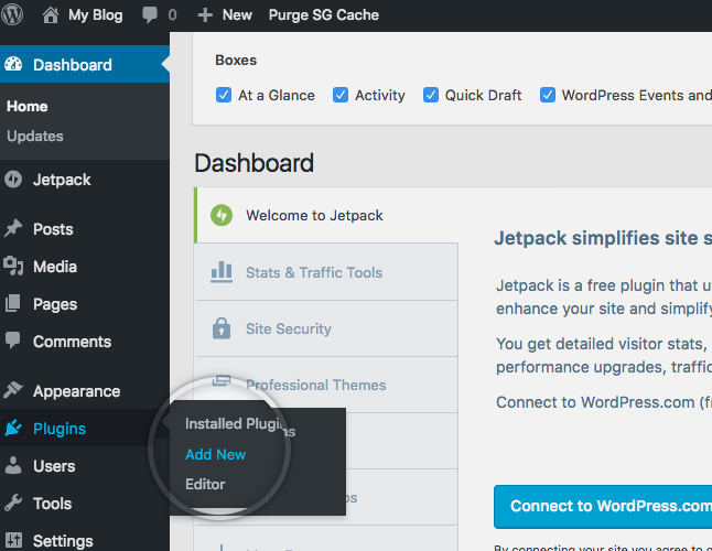 How do I add a plugin to my WordPress site?