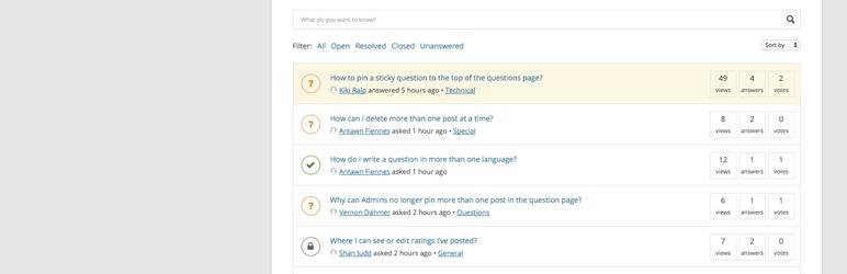 DW Question Answer wordpress plugin