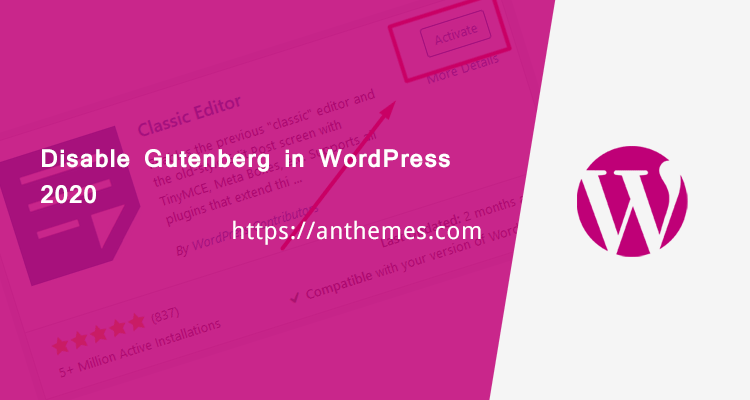 Disable Gutenberg in WordPress