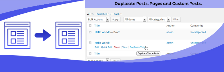 duplicate page wordpress plugin