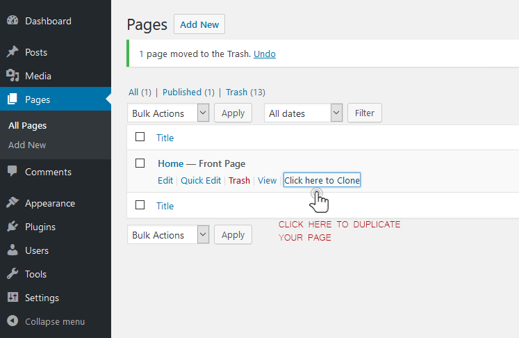 duplicate wordpress page post plugin
