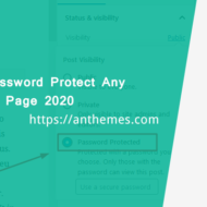 password protect a WordPress page