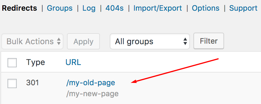 redirect wordpress page anthemes
