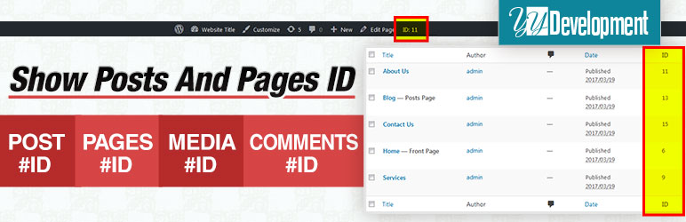 show posts and pages id wordpress plugin