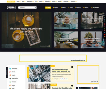 Quemag WordPress Theme